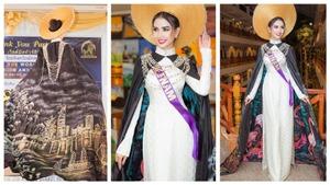 Hoa hậu Đại sứ Du lịch thế giới 2018: Áo dài của Phan Thị Mơ lọt Top 10 trang phục Eco Tourism