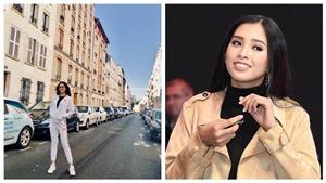Chùm ảnh: Hoa hậu Việt Nam Trần Tiểu Vy tự tin, hút hồn trên đất Pháp