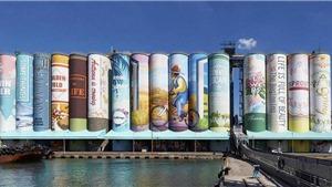 Các container biến thành bức tranh ngoài trời lớn nhất thế giới tại Hàn Quốc