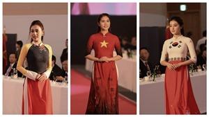 'Quỳnh búp bê', Huyền My được chú ý khi trình diễn áo dài Đỗ Trịnh Hoài Nam