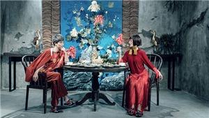MC Quỳnh Chi và Thùy Dung phá cách với áo dài Tết
