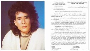 Ca sĩ Tuấn Vũ được chấp thuận biểu diễn tại TP.HCM