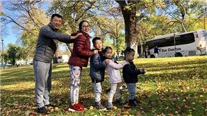 Gia đình Ốc Thanh Vân trải nghiệm du lịch Hàn Quốc
