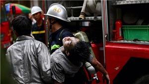 Hà Nội: Cháy lớn ở phố Núi Trúc