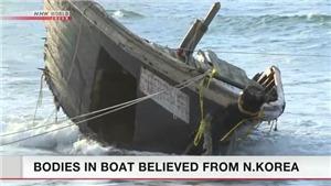 Phát hiện 7 thi thể trên một tàu nghi của Triều Tiên tại vùng biển Nhật Bản