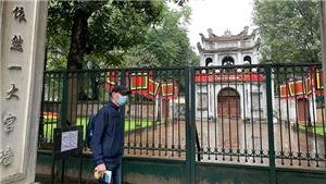 Di tích Văn Miếu - Quốc Tử Giám, Nhà tù Hỏa Lò, đền Ngọc Sơn tạm dừng đón khách để khử khuẩn, phòng chống dịch COVID-19