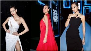Phương Mai liên tục biến hoá khi làm MC Tuần lễ thời trang