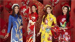 Dàn Hoa - Á hậu Hoàn vũ Việt Nam rạng ngời trong bộ ảnh Tết