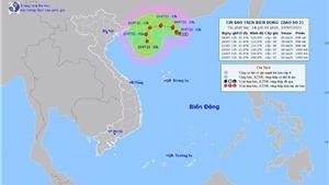 Bão số 3 gây mưa dông mạnh vùng biển từ Bình Thuận đến Cà Mau