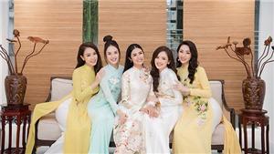 Đỗ Mỹ Linh cùng dàn sao chúc mừng Ngọc Hân mở showroom áo dài