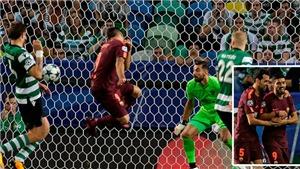 Video clip highlights bàn thắng trận Sporting Lisbon 0-1 Barcelona