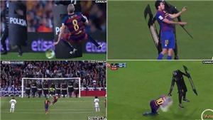 HÀI HƯỚC: Cảnh sát 'phạm lỗi' với Messi, Iniesta ở 'Kinh điển'