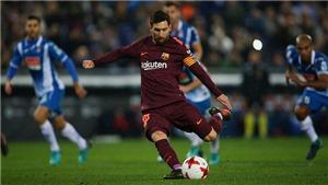 Espanyol 1-0 Barca: Messi đá hỏng 11m, Barca thua trận đầu tiên ở mùa giải này