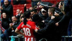 Diego Costa gây sốt vì ghi bàn và bị đuổi chỉ trong 60 giây ở lần tái xuất Liga
