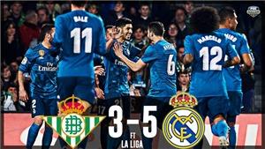 Video bàn thắng và clip highlights trận Real Betis 3-5 Real Madrid