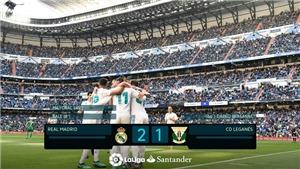 Video bàn thắng Real Madrid 2-1 Leganes: Trọng tài bẻ còi, Real thắng đầy tranh cãi