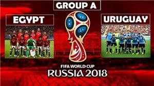 Video bàn thắng và highlights Ai Cập 0-1 Uruguay: Salah bất lực trên ghế dự bị