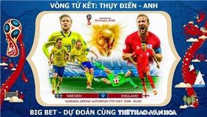 SOI KÈO và trực tiếp Thụy Điển vs Anh (21h00 ngày 7/7), Tứ kết World Cup 2018