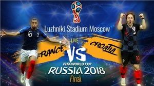 Link trực tiếp trận Pháp và Croatia (22h00, 15/7). TRỰC TIẾP VTV6