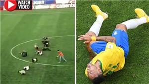Cả chục người Mexico lăn đùng ra sân để chế nhạo Neymar