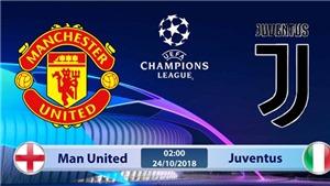 TRỰC TIẾP M.U vs Juventus (02h00, 24/10), vòng bảng Champions League