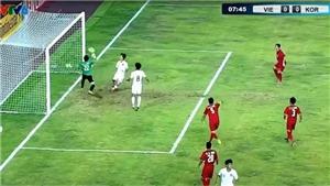 U19 Việt Nam: Xà ngang cột dọc 3 lần liền từ chối bàn thắng của U19 Hàn Quốc