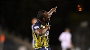 Usain Bolt sút chân trái cực hay, lập cú đúp đầu tiên trong sự nghiệp cầu thủ