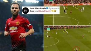 Mata được gọi là 'phù thủy' sau cú vô lê chuyền bóng ngoạn mục cho Luke Shaw