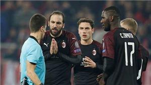 AC Milan bất ngờ bị Olympiakos loại khỏi Europa League dù nắm lợi thế lớn