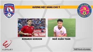 Nhận định và trực tiếp Quảng Ninh vs Sài Gòn (18h00 ngày 20/04), V League 2019 vòng 6