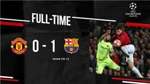 VIDEO MU 0-1 Barca: Shaw phản lưới, MU vẫn còn hy vọng. Kết quả C1 vòng tứ kết