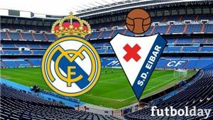 Xem trực tiếp bóng đá Real Madrid vs Eibar (21h15, 06/04). Trực tiếp bóng đá