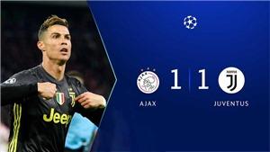 VIDEO Ajax 1-1 Juventus: Ronaldo ghi bàn, tiếp tục lập kỷ lục