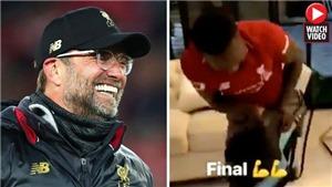 Chết cười với Keita chân đau, tập tễnh nhảy ăn mừng chiến thắng của Liverpool qua TV