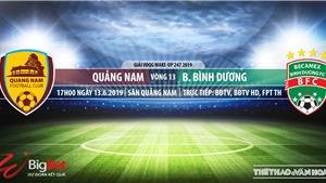 Quảng Nam vs Bình Dương: Nhận định và trực tiếp bóng đá (17h,13/6). VTV6, BĐTV, FPT