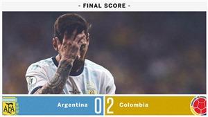 Argentina 0-2 Colombia: 'Messi càng ngày càng phải ôm đầu. Không thể đổ lỗi cho Higuain được nữa'