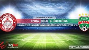 Trực tiếp bóng đá: TPHCM vs Bình Dương (19h00, 12/07). Trực tiếp Bóng đá TV, FPT Play