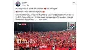CĐV Việt Nam được người Thái cảm ơn vì hành động đẹp