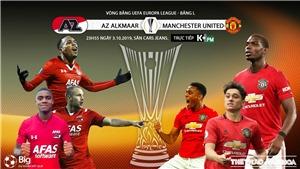 Soi kèo bóng đá: AZ Alkmaar đấu với MU. Vòng bảng Europa League. Trực tiếp K+, K+PM