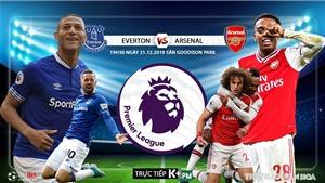 Soi kèo Everton đấu với Arsenal. K+, K+PM trực tiếp bóng đá Ngoại hạng Anh hôm nay