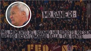 Xúc động khoảnh khắc Claudio Ranieri bật khóc khi được CĐV AS Roma tri ân