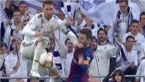Ramos thẳng tay đánh cùi chỏ vào mặt Messi khiến CĐV Barca nổi cơn thịnh nộ