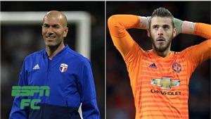 MU lo sốt vó khi Zidane thuyết phục Real chi 75 triệu bảng mua De Gea