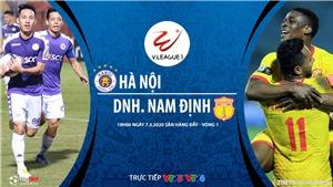 Soi kèo nhà cái Hà Nội đấu với Nam Định. VTV6 trực tiếp bóng đá V League 2020