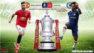 Soi kèo bóng đá MUvs Chelsea. Bán kết cúp FA. Trực tiếp SCTV thể thao, FPT