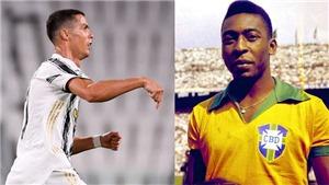 Ronaldo chỉ còn kém kỷ lục vủa Vua bóng đá Pele 30 bàn