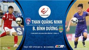 Soi kèo bóng đá Quảng Ninh vs Bình Dương. Trực tiếp bóng đá V-League 2020