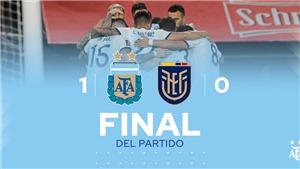Argentina 1-0 Ecuador: Messi giúp Argentina thắng trận đầu vòng loại World Cup 2022