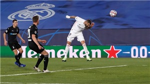 Bảng B Cúp C1: Real Madrid đi tiếp nhờ người hùng Benzema. Inter Milan muối mặt