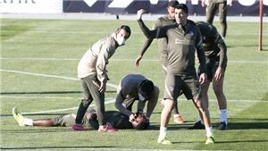 Ngôi sao của Atletico Madrid bỗng nhiên ngã gục khiến cả đội hoảng loạn
